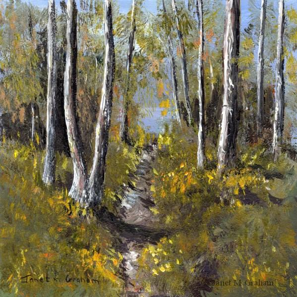 """""""Autumn Days 2"""" original fine art by Janet Graham"""