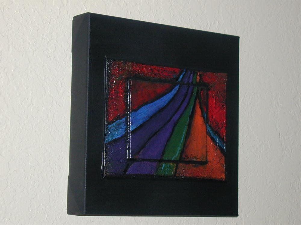 """Rainbow to Heaven"" original fine art by Barbara Lemley"
