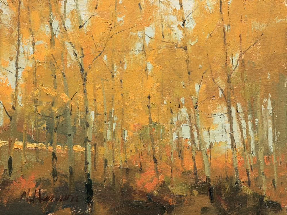 """Hills of Gold"" original fine art by Marc Hanson"