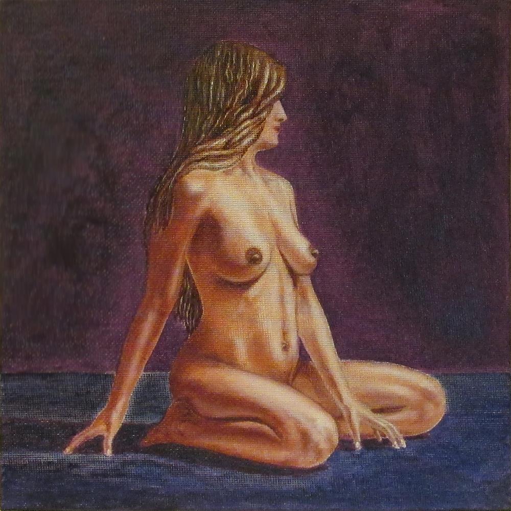 """Nude Study 2"" original fine art by Mary Sylvia Hines"