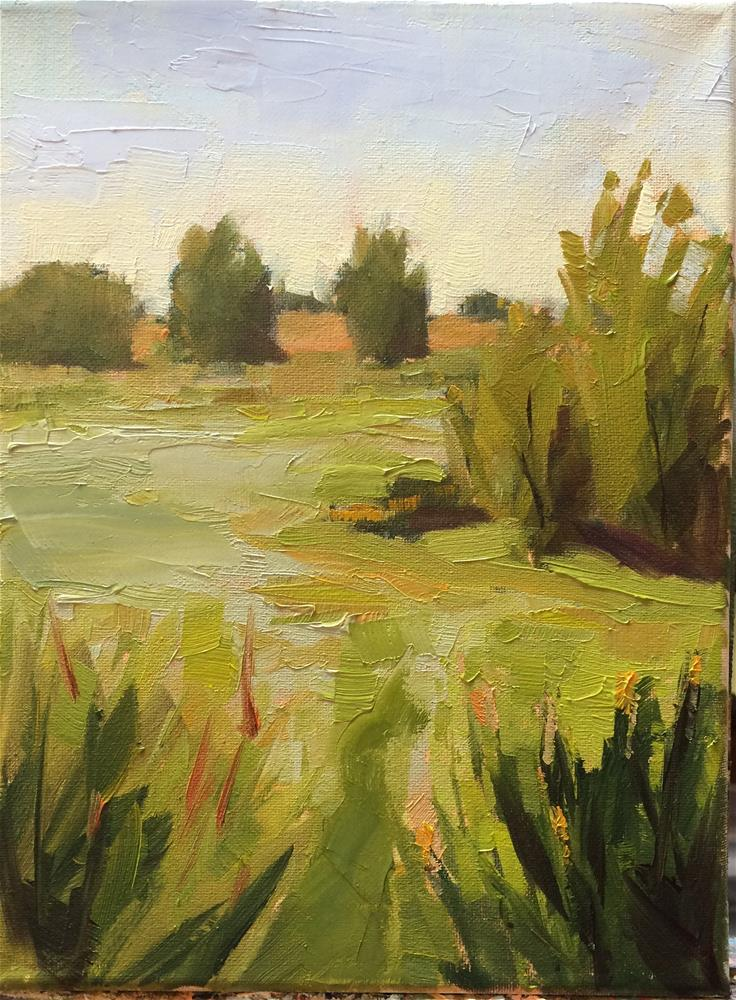 """Vast Land of Green"" original fine art by Naomi Bautista"