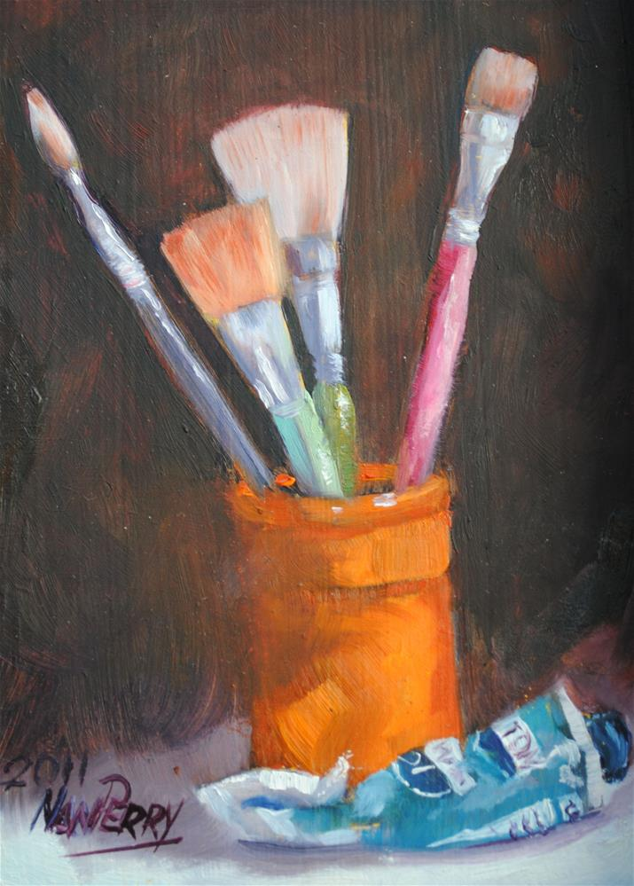 """""""Tools of the Trade"""" original fine art by Nan Perry"""