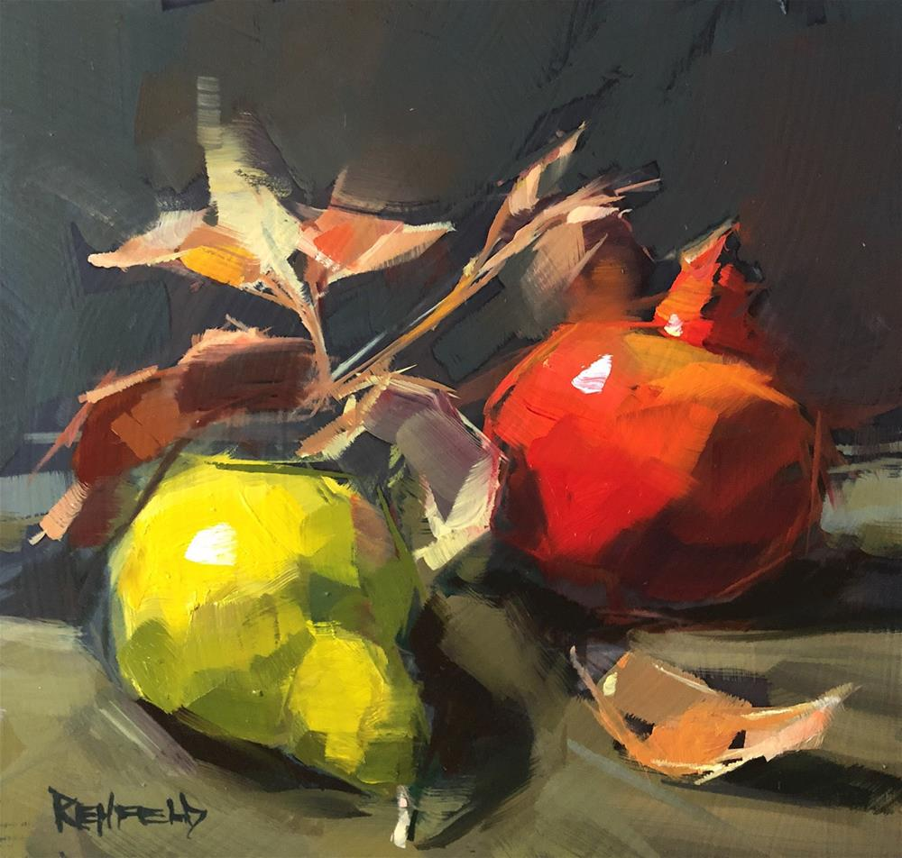 """Pom Pear"" original fine art by Cathleen Rehfeld"
