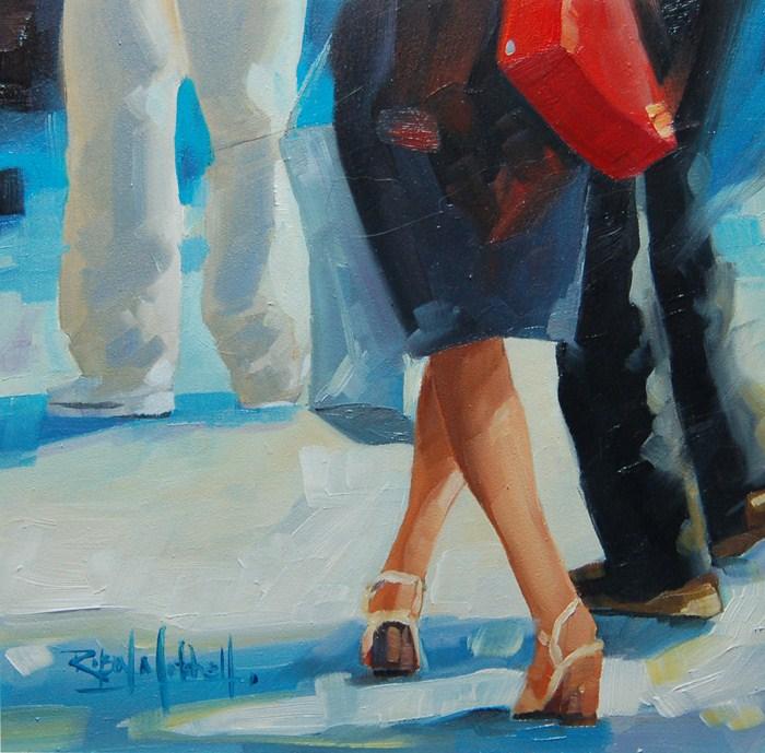 """No 585 New Red Purse"" original fine art by Robin J Mitchell"