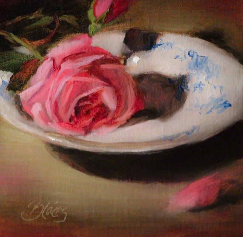 """An Old Fashioned Rose"" original fine art by Pamela Blaies"