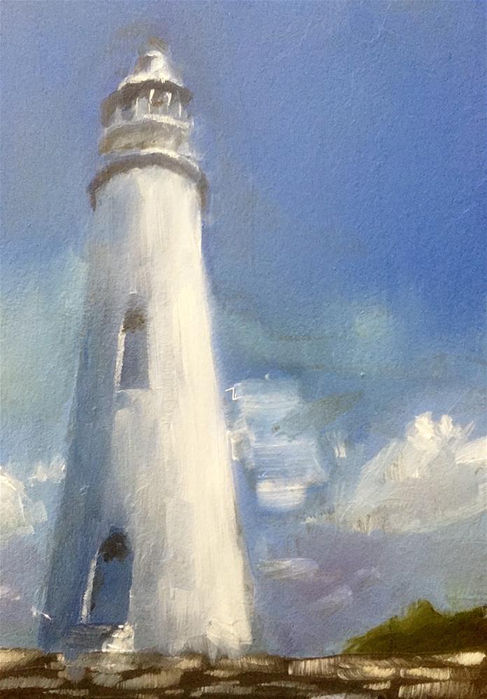 """""""Dixon Lighthouse"""" original fine art by Gary Bruton"""