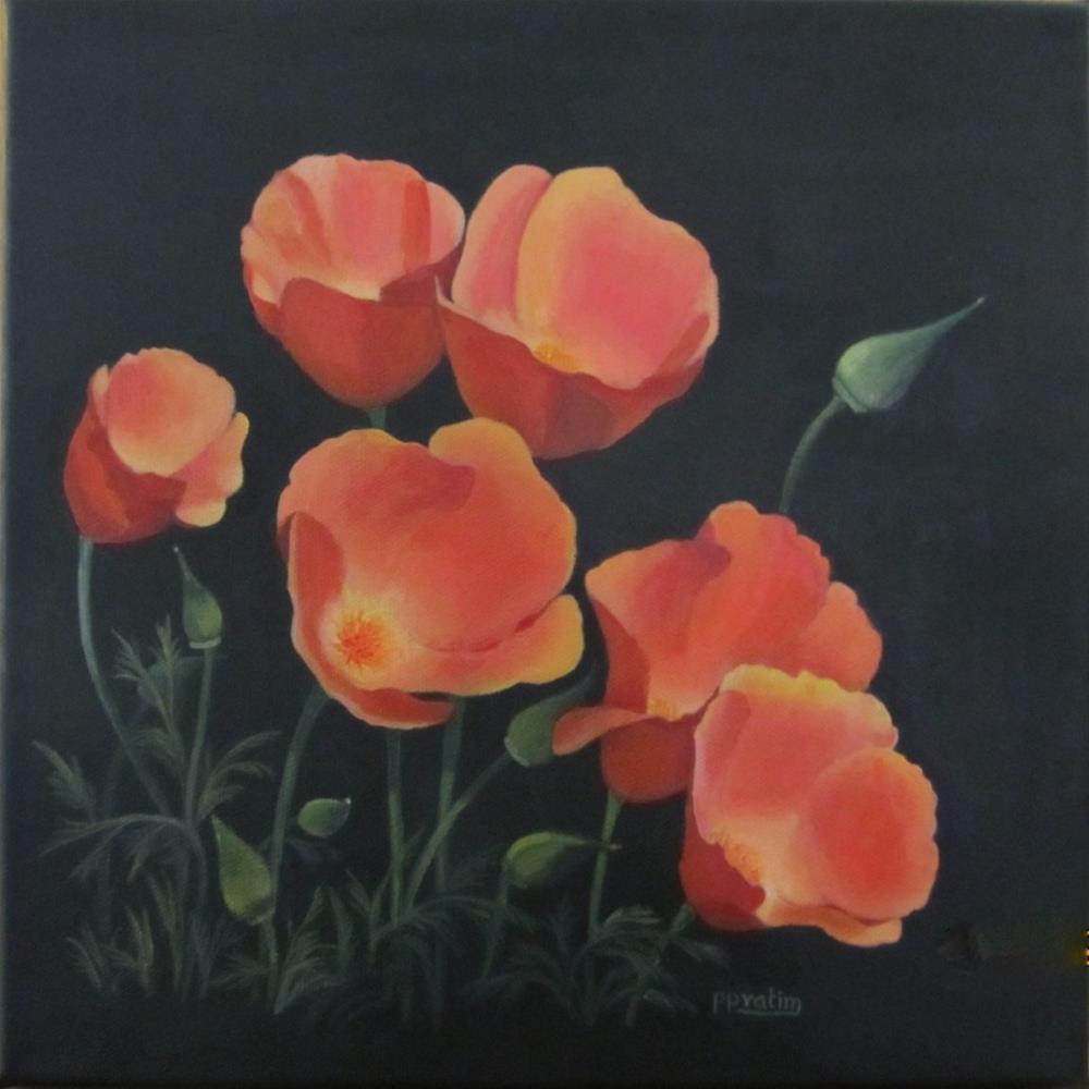 """California Poppies"" original fine art by Pratima Patel"