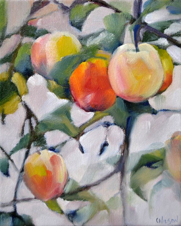"""Golden Plums"" original fine art by Cheryl Wilson"
