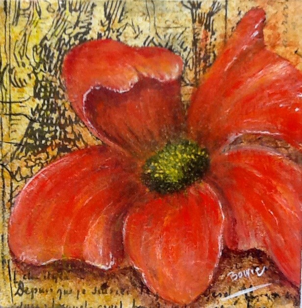 """A letter to Theo"" original fine art by Maureen Bowie"