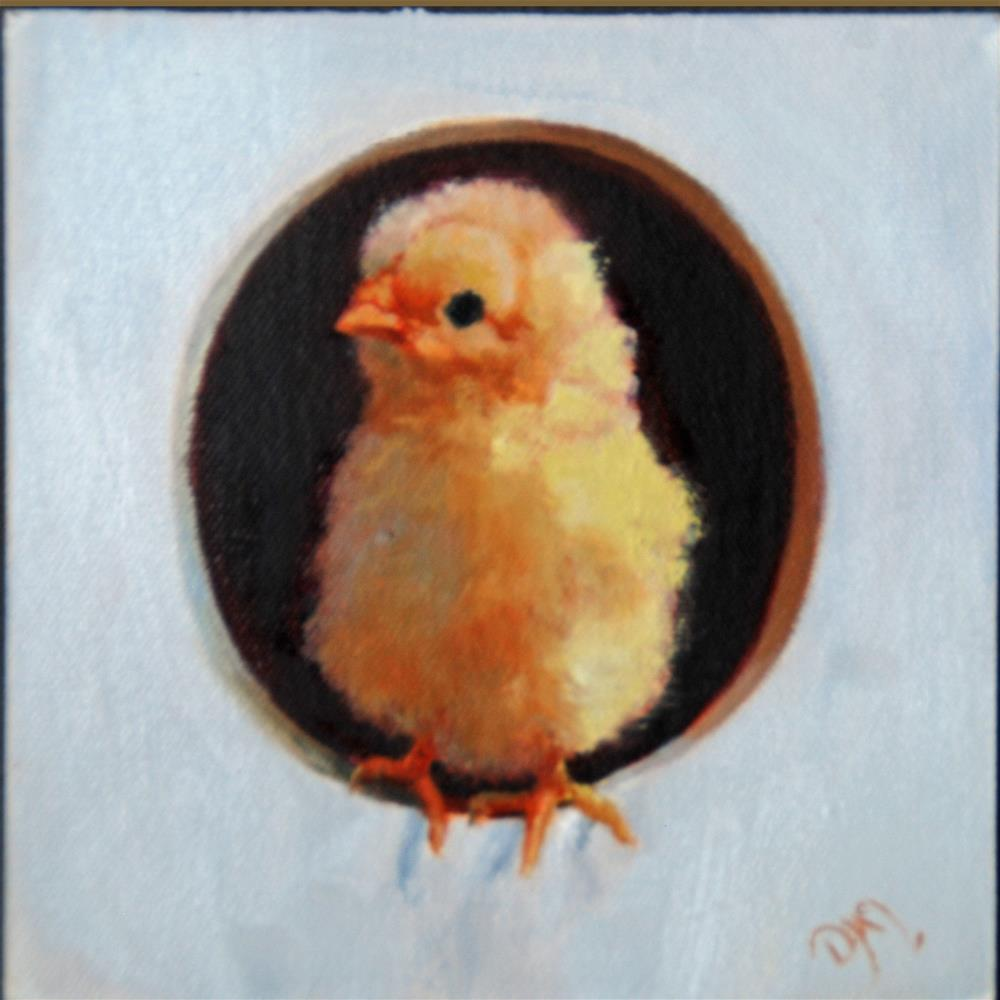 """Peep"" original fine art by Dorothy McLennan"