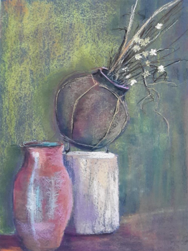 """""""Canon del Rio Pottery"""" original fine art by Anna Lisa Leal"""
