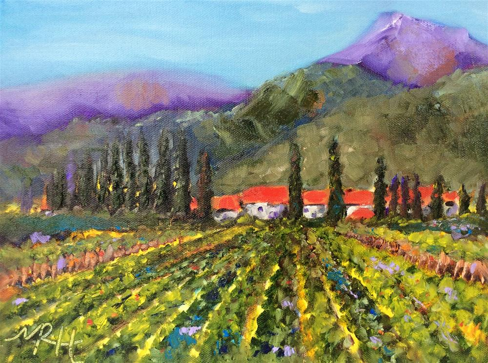 """Italian Vineyard"" original fine art by Molly Rohrscheib Hathaway"