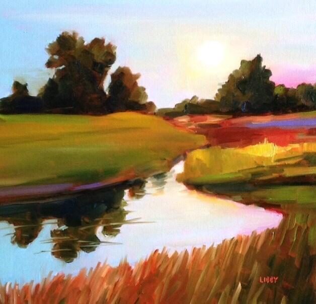 """Six o'Clock"" original fine art by Libby Anderson"