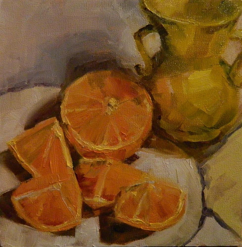 """Orange Ya Glad"" original fine art by Debra Shore"