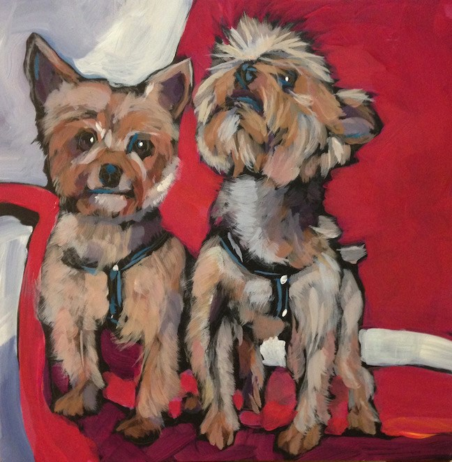 """Tulip and Gitta!"" original fine art by Kat Corrigan"