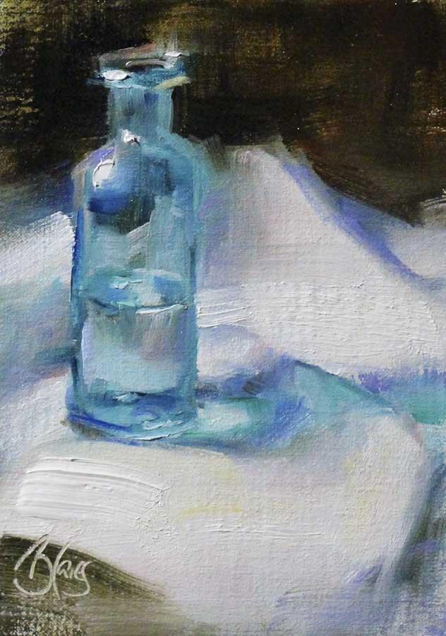 """""""Blue"""" original fine art by Pamela Blaies"""