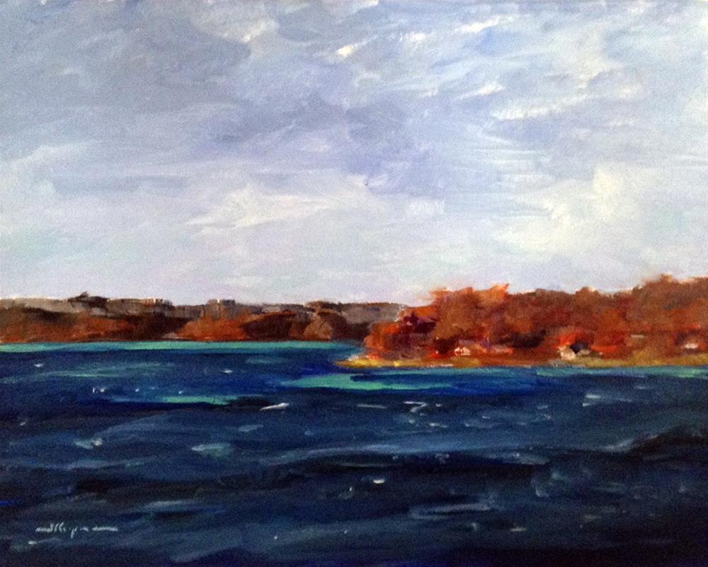 """Cold Fall Day Plein Air"" original fine art by Shelley Koopmann"
