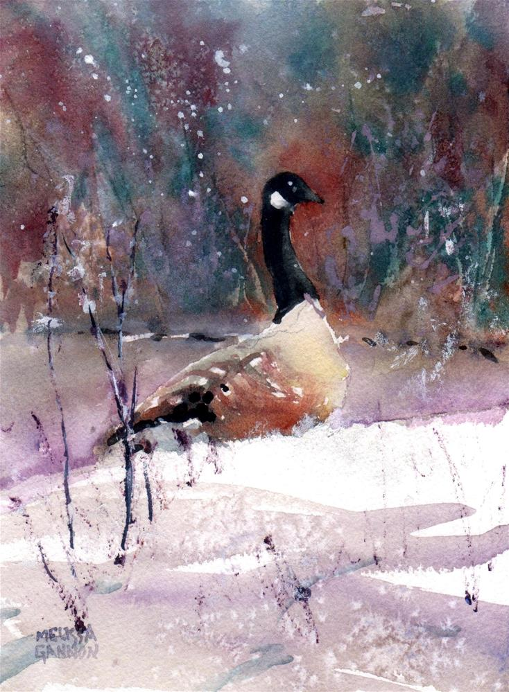 """Snowy Pause"" original fine art by Melissa Gannon"