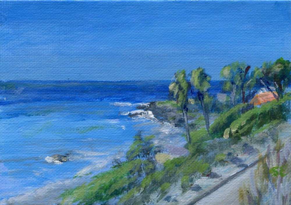 """""""A View of Malibu from Highway 1"""" original fine art by Stanley Epperson"""