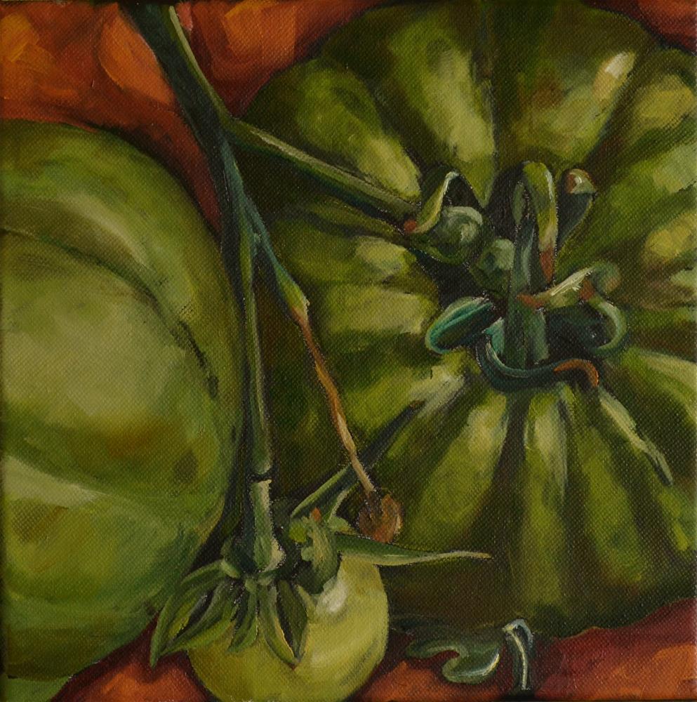 """Green Tomatoes"" original fine art by Karen Weber"