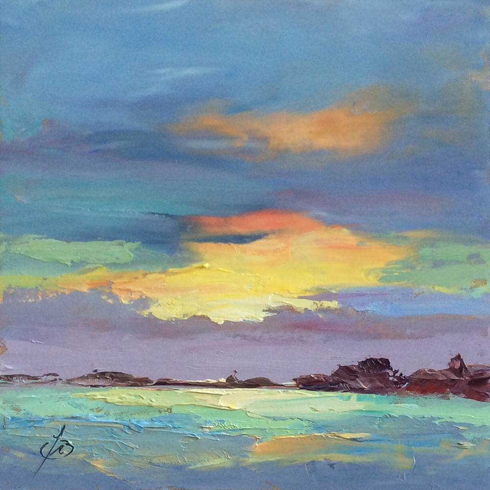 """SUNSET SKY"" original fine art by Tom Brown"
