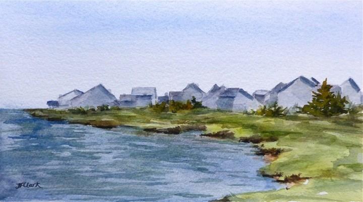 """Cape Cod Cottages"" original fine art by Judith Freeman Clark"