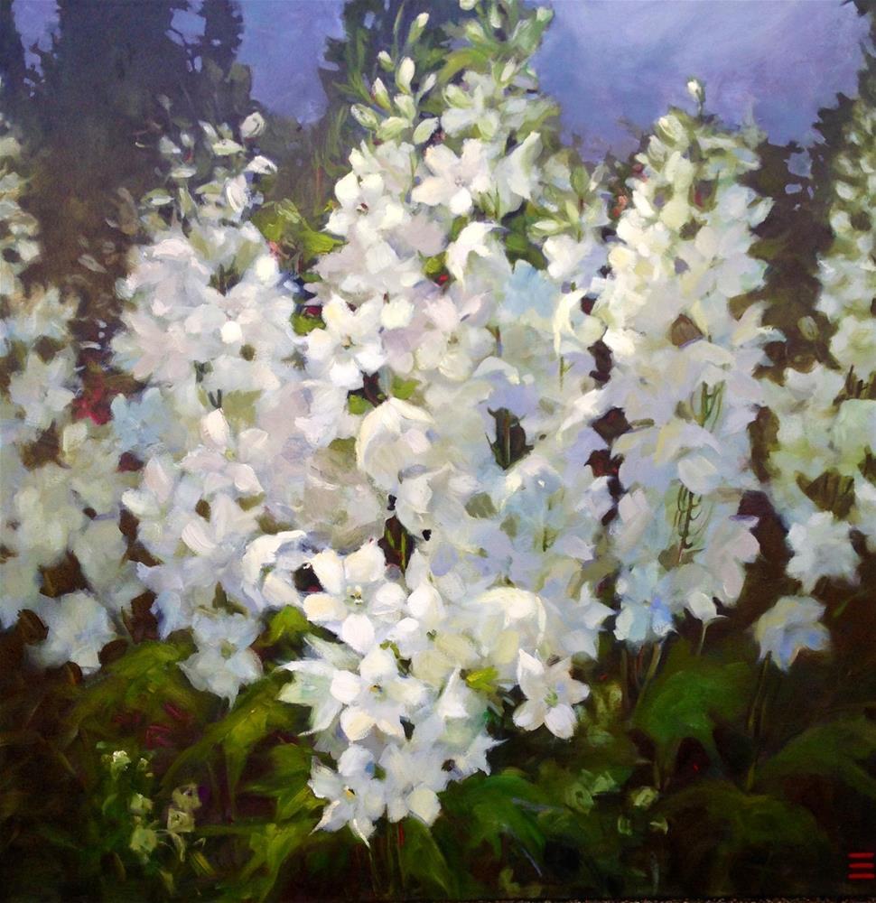 """Contemplation 36x36x1.5 gallery wrap canvas"" original fine art by Krista Eaton"