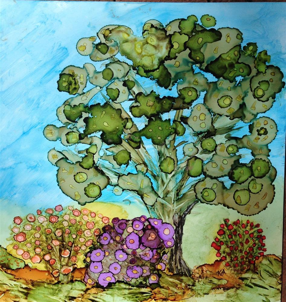 """""""Flowering Oasis"""" original fine art by Kris Alge"""