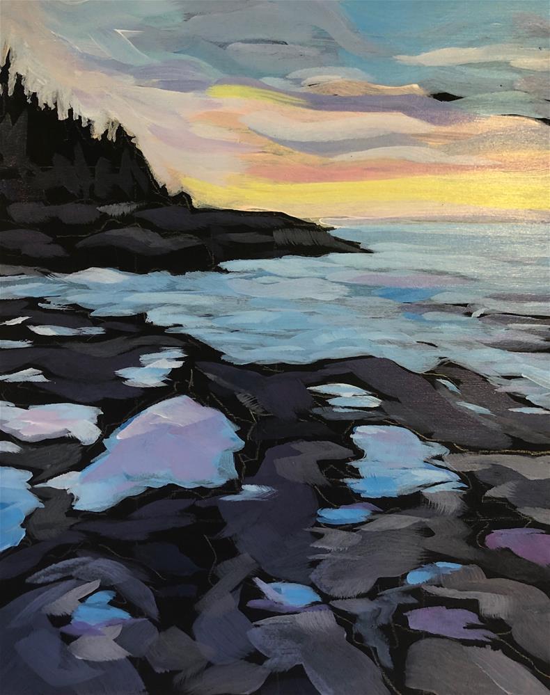 """Sunset Fresh Morning"" original fine art by Kat Corrigan"