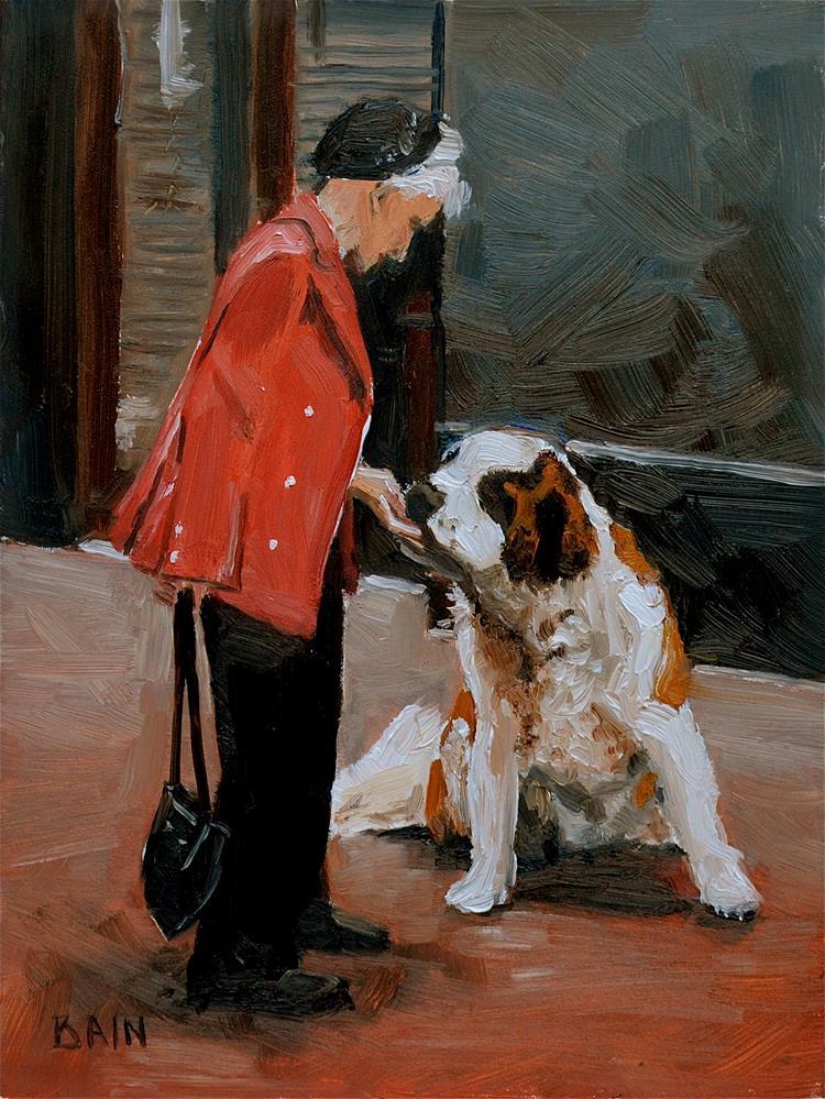 """The Kindness of Strangers"" original fine art by Peter Bain"