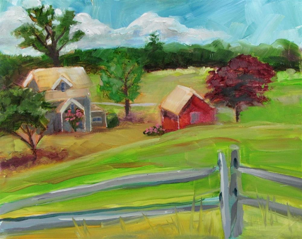 """Pastoral Setting on Ocean Bluff"" original fine art by Christine Holzschuh"