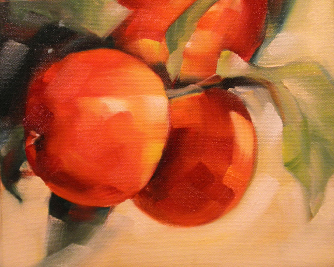 """Three Big Apples"" original fine art by Cheryl Wilson"