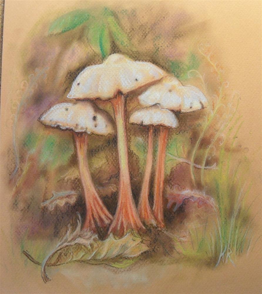 """""""Mushroom Family"""" original fine art by Karen Roncari"""