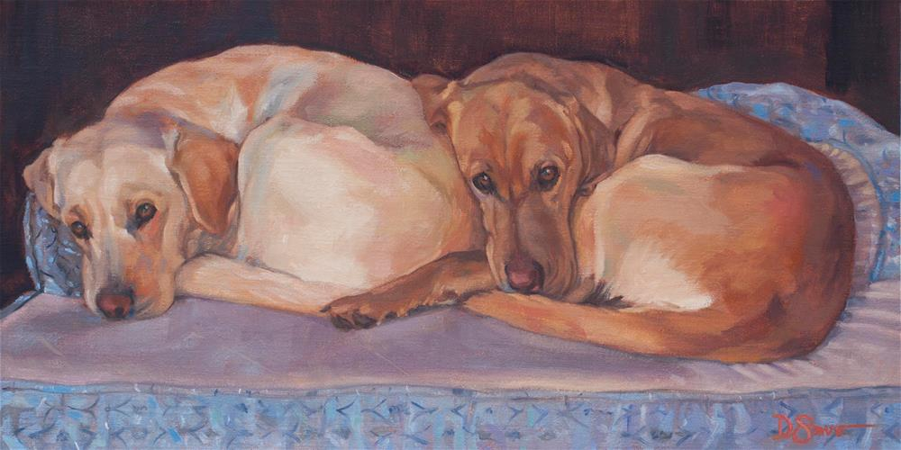 """Cuddle  Time"" original fine art by Deborah Savo"