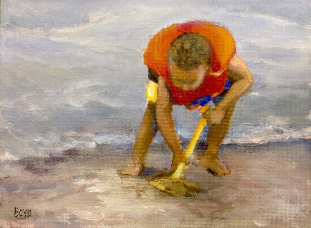 """""""Hard Work"""" original fine art by Cathy Boyd"""