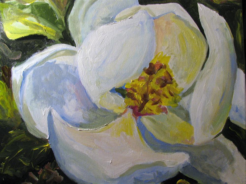 """""""Magnolia"""" original fine art by Susan Elizabeth Jones"""