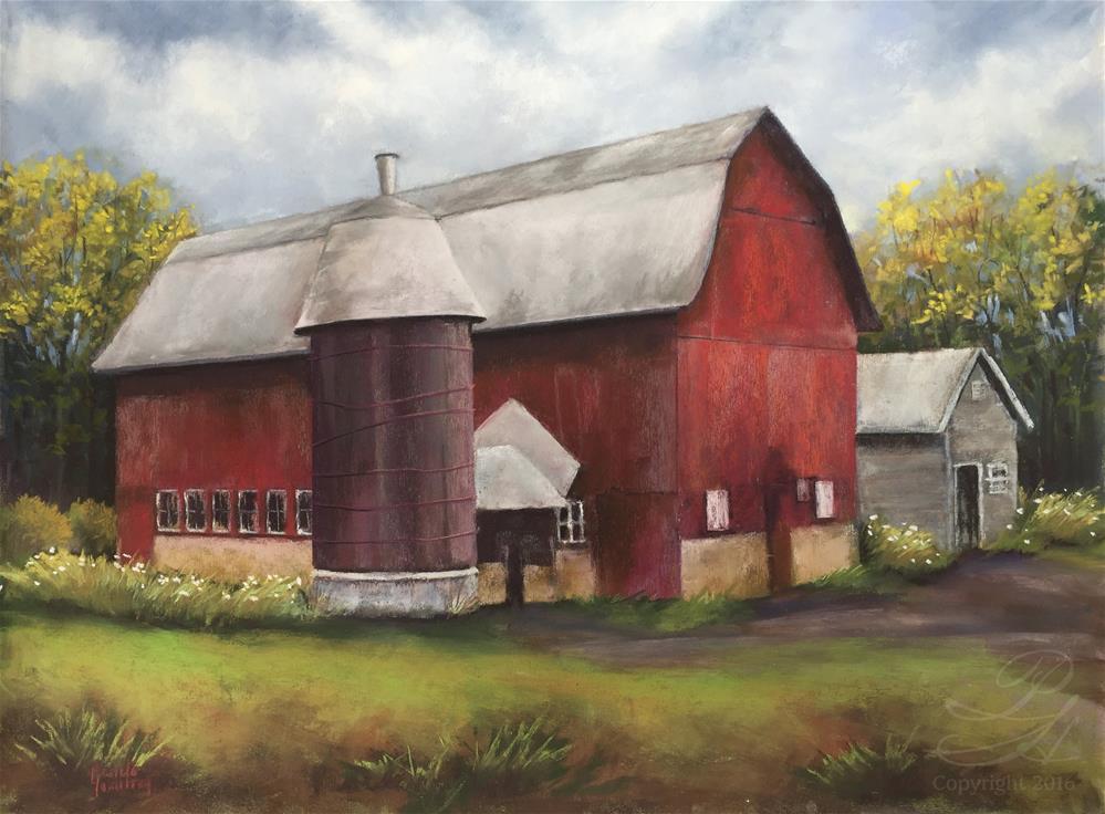 """Cain Barn"" original fine art by Pamela Hamilton"