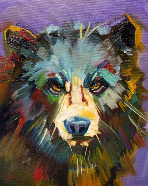 """Study for Black Bear"" original fine art by Diane Whitehead"