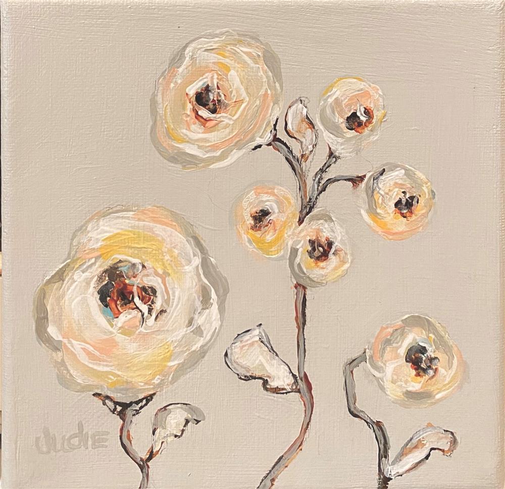 """FUNKIER FLOWERS"" original fine art by Judie Mulkey"