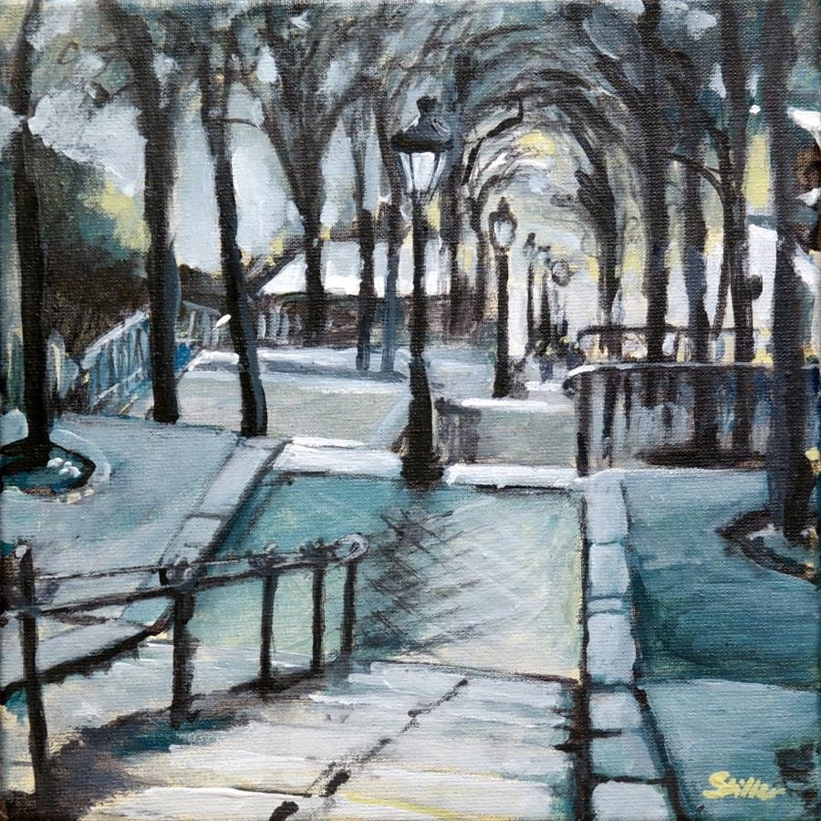 """""""1552 Montmartre"""" original fine art by Dietmar Stiller"""