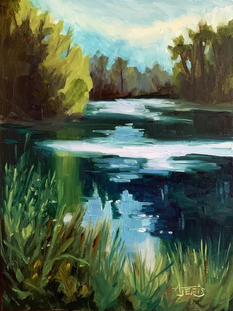 """Pond at the Park"" original fine art by Andrea Jeris"