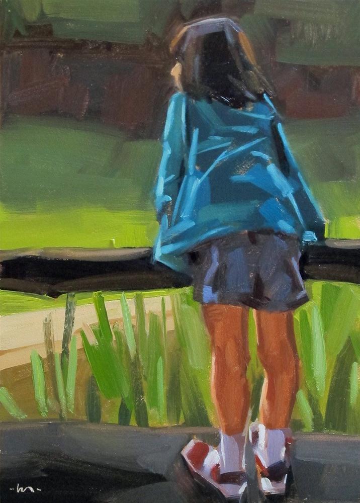 """Where Are the Zebras?"" original fine art by Carol Marine"