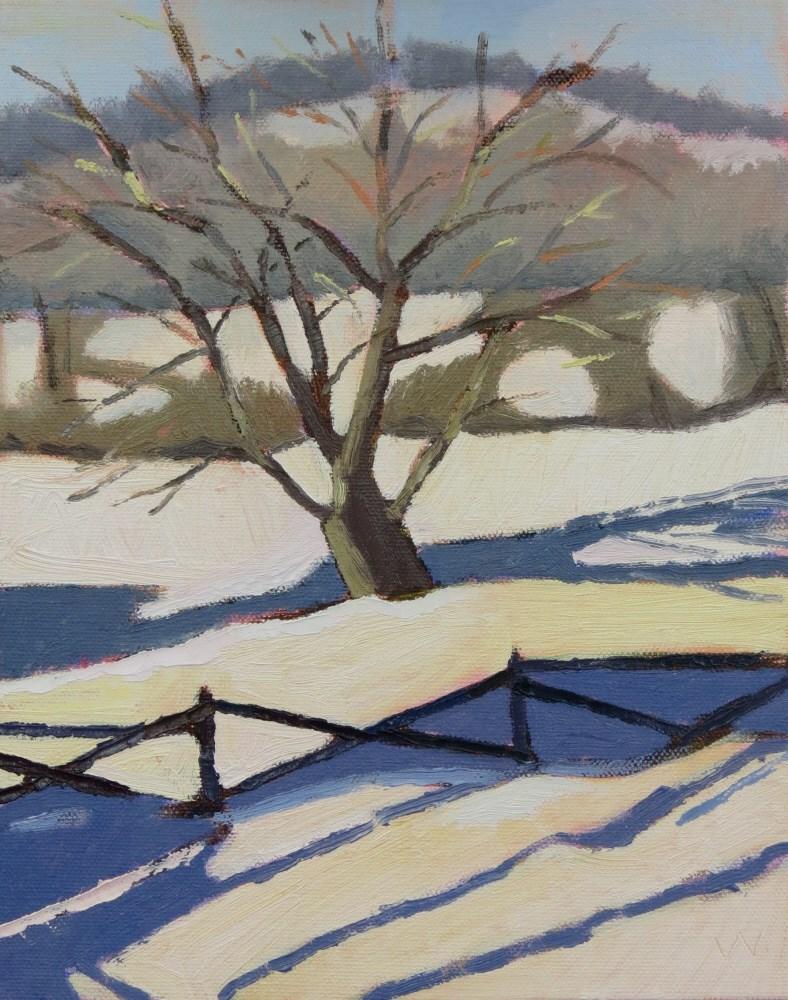 """""""Blizzard Tree"""" original fine art by Joan Wiberg"""
