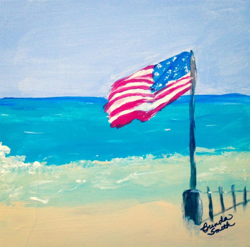 """Old Glory"" original fine art by Brenda Smith"