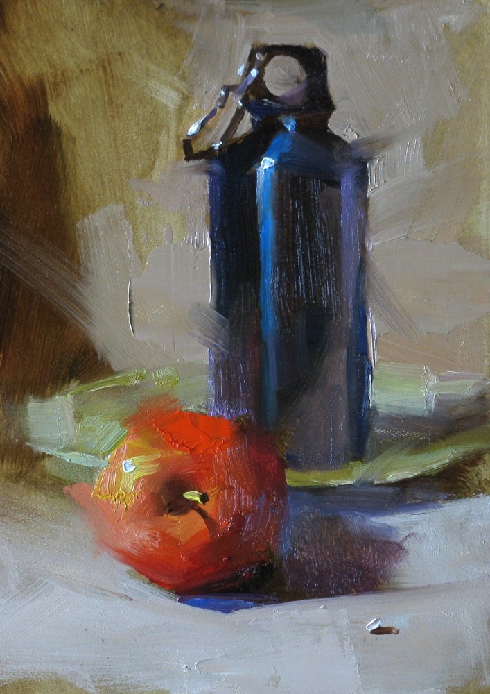 """""""Life is Simple"""" original fine art by Qiang Huang"""