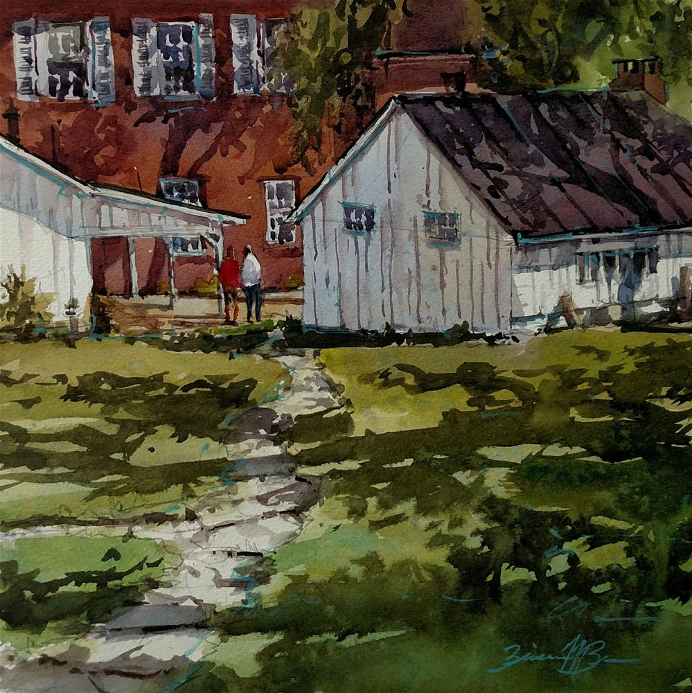 """""""Linden Hall Shadows"""" original fine art by Brienne M Brown"""