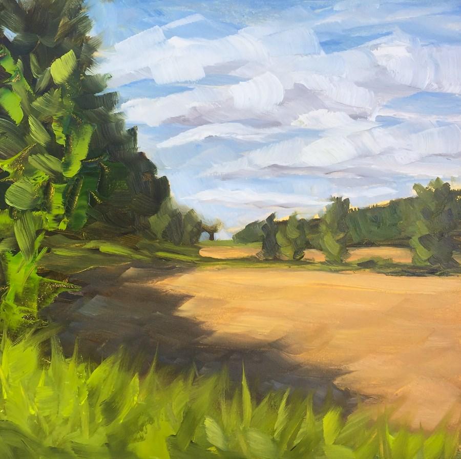 """#80 - Newly Plowed Field - Stowe, VT"" original fine art by Sara Gray"