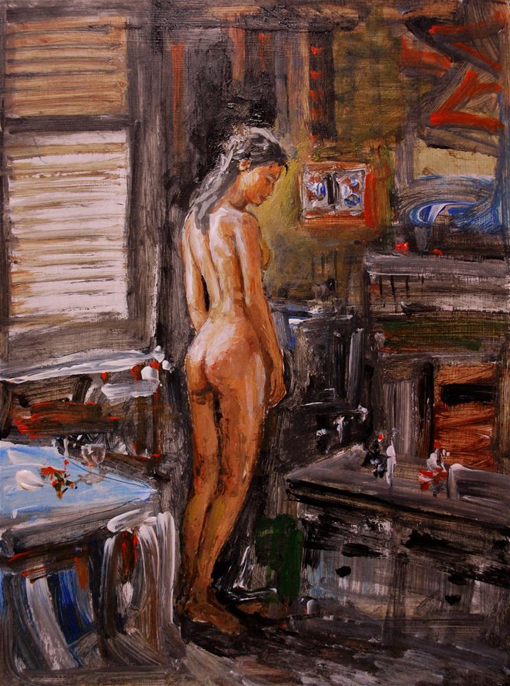 """Girl to dress"" original fine art by vishalandra dakur"