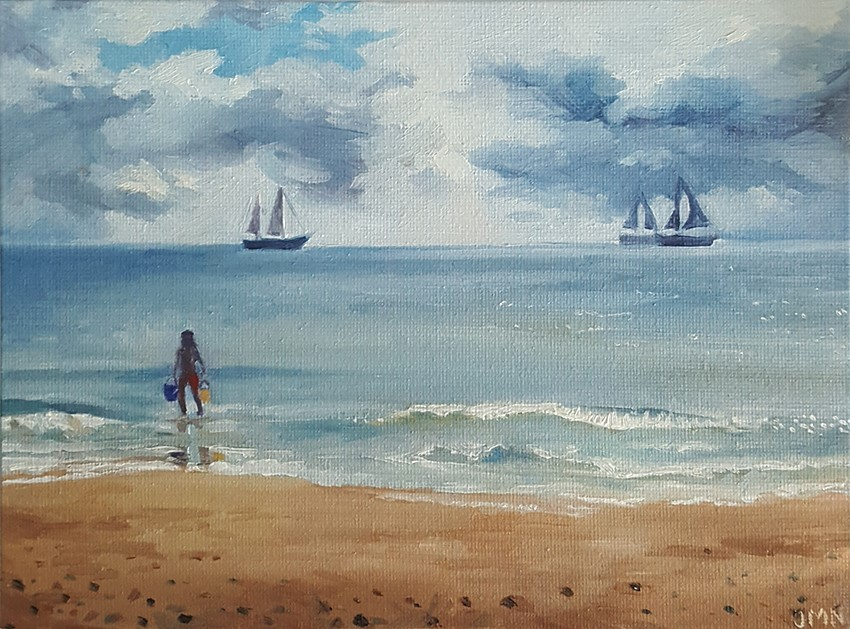 """Off Into The Waves"" original fine art by J M Needham"