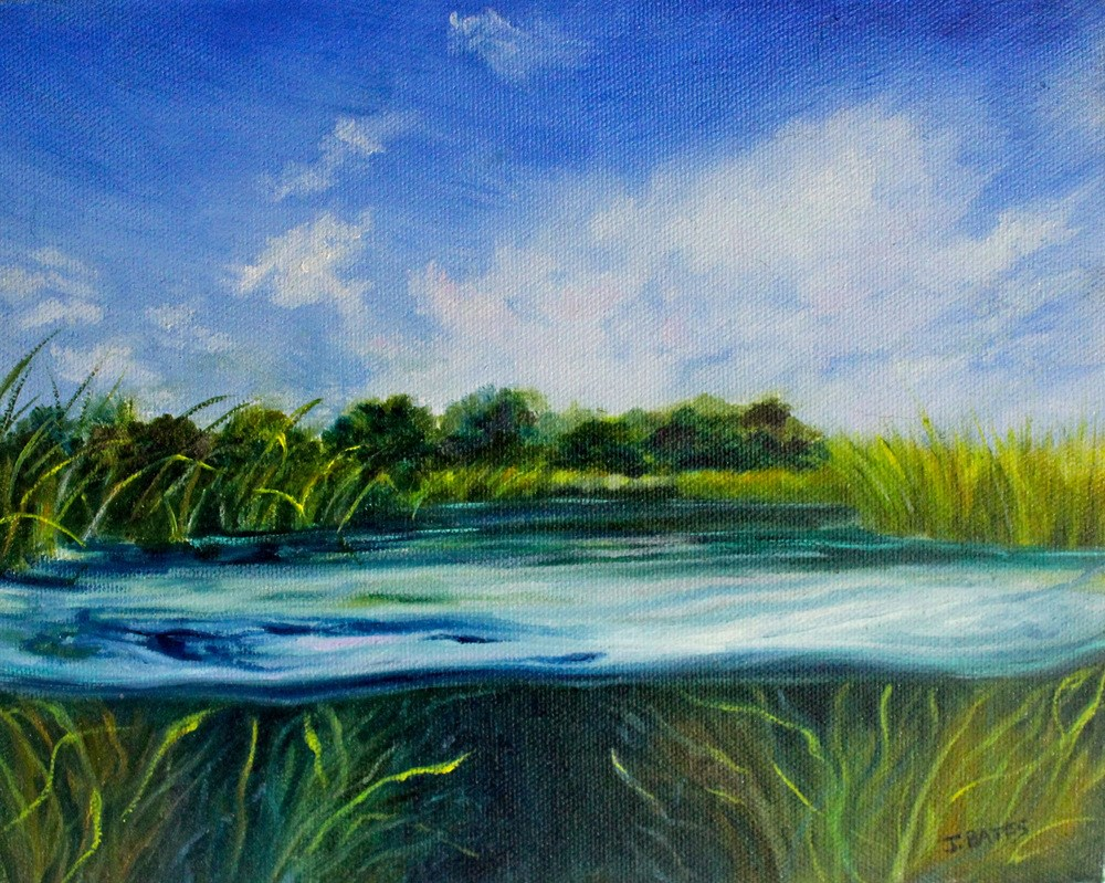 """What Lies Beneath"" original fine art by Jill Bates"